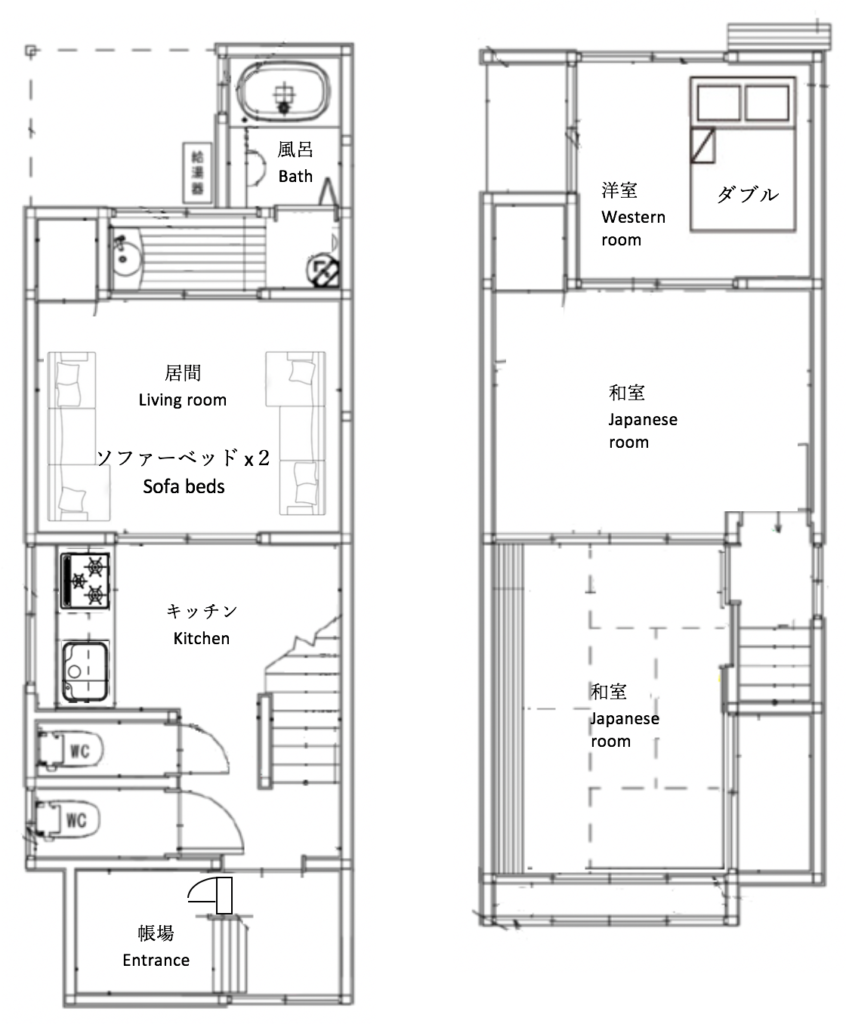 Kyoto guesthouse 京都 ゲストハウス 6人
